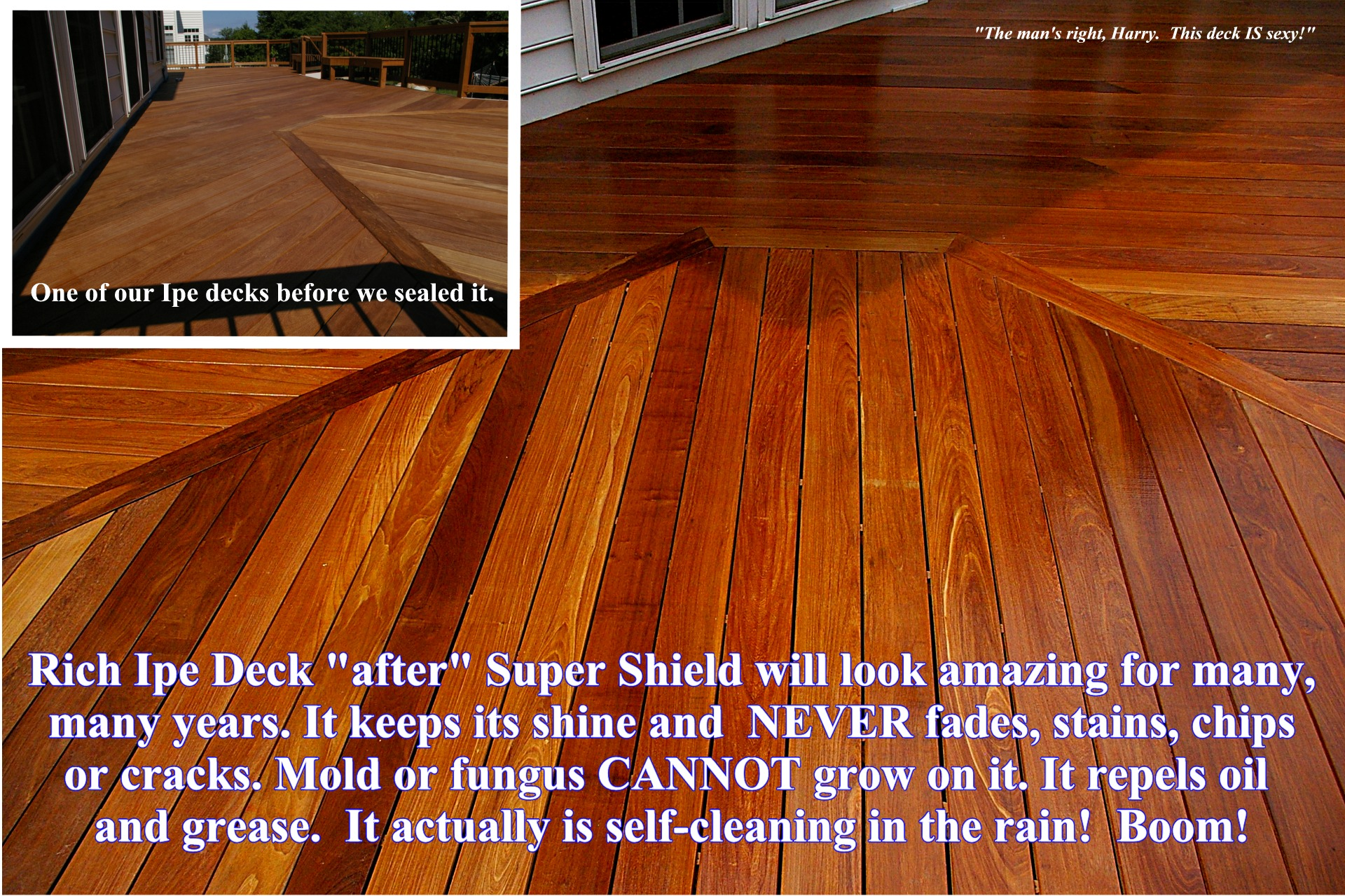 Super Shield Ipe Deck stain