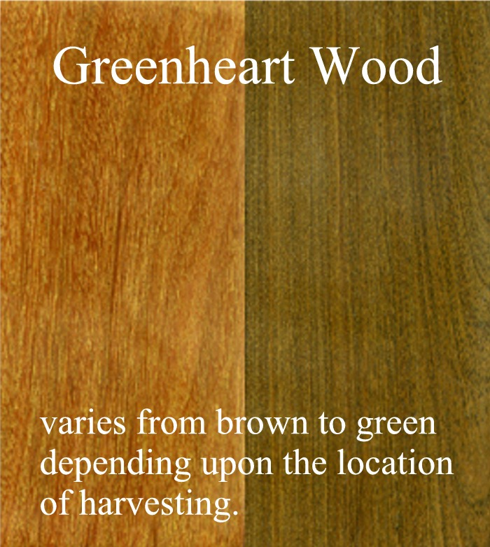 Greenheart Wood color range